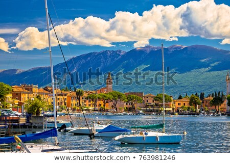 toscolarno maderno waterfront view on garda lake stock photo © xbrchx