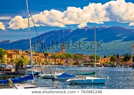 Toscolarno Maderno waterfront view on Garda lake Stock photo © xbrchx