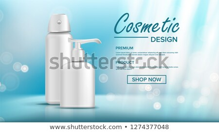 Cosmetic Bottle Template Vector. Female Hygiene. Exhibition Brochure. Sale Flyer. 3D Mockup Realisti Stock photo © pikepicture