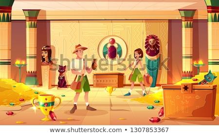 ルーム 宝 実例 フル 火災 ドア ストックフォト © colematt
