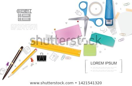 levélpapír · lökés · rajz · tő · űr · óriásplakát - stock fotó © robuart