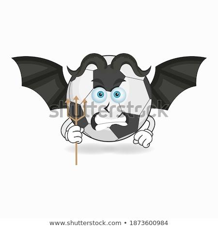 Cartoon duivel voetbal kick illustratie Stockfoto © cthoman