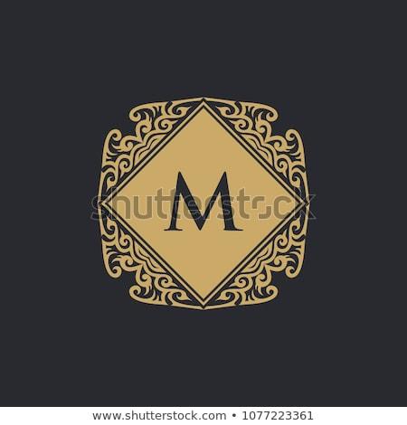 Stylish Floral Monogram Logo Design Template Stock photo © ivaleksa