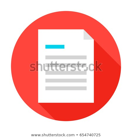 text Document in Circle, vector illustration isolated on white background. Stock photo © kyryloff