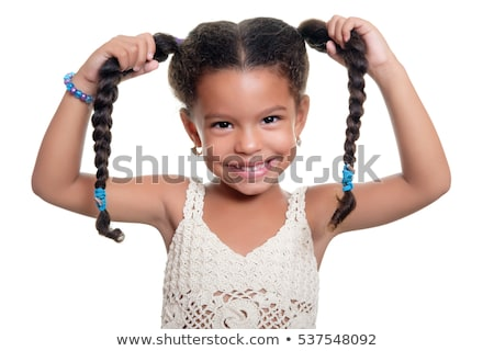 A girl with braids hairstyle Stock photo © bluering