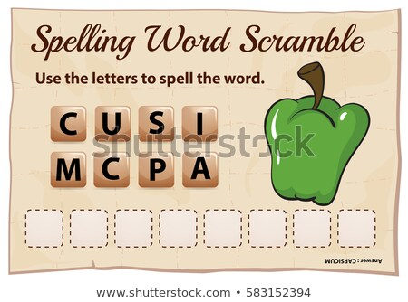 Yazım kelime şablon gıda okul arka plan Stok fotoğraf © colematt