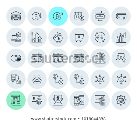 Ico Digital Virtual Money Financing Icon Vector Stock photo © robuart