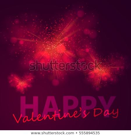 Heureux saint valentin or glitter sombre Photo stock © olehsvetiukha