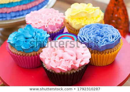 Cupcakes for celebrating Mexican party fiesta Stock photo © furmanphoto