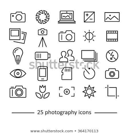 ikon · fotoğraf · kamera · algılayıcı · gri · yeşil - stok fotoğraf © angelp