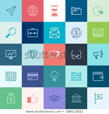 Monitor with news icon Stock photo © angelp