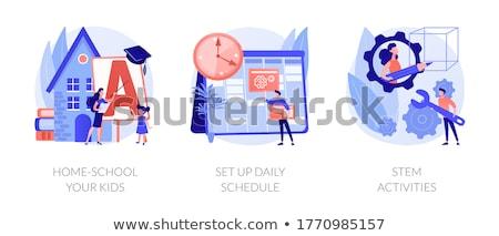 Ingesteld dagelijks activiteit kinderen illustratie kinderen Stockfoto © bluering