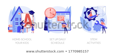 Set of daily activity kids Stock photo © bluering