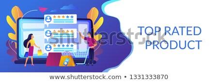 Seller reputation system concept banner header. Stock photo © RAStudio