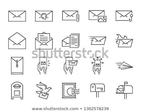 e-mail · controleren · lijn · icon · vector · geïsoleerd - stockfoto © pikepicture
