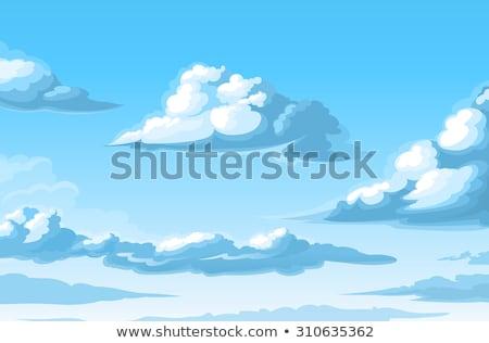 blue sky and cartoon clouds Stock photo © romvo