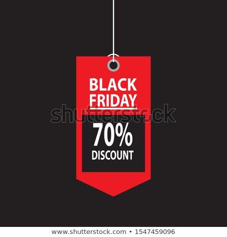 black · friday · vásár · szalag · szett · vektor · rajz - stock fotó © pikepicture