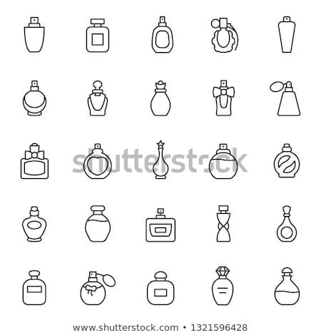 parfum · fles · geur · roze · ornamenten - stockfoto © dashadima