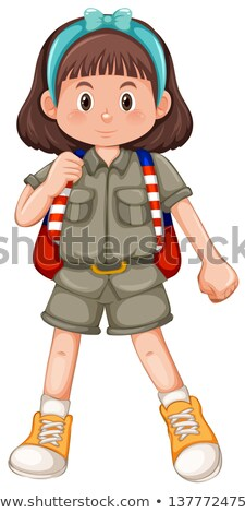 Cute girl scout with headband Stock photo © bluering