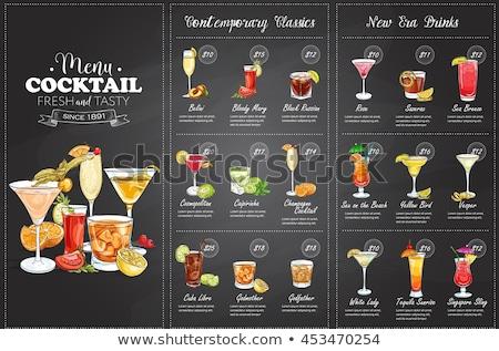 Fronte disegno cocktail menu design eps Foto d'archivio © netkov1