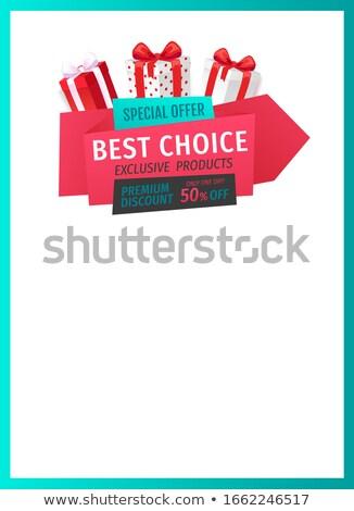 akció · legjobb · választás · prémium · árengedmény · mentés · felfelé - stock fotó © robuart