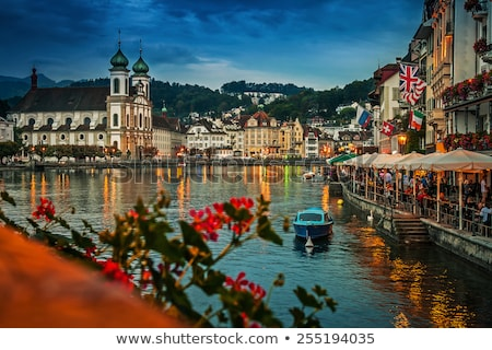 embankment of Reuss river, Lucerne, Switzerland Stock photo © borisb17