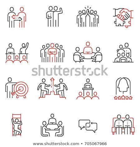 Vállalati kölcsönhatás ikon fényes gomb terv Stock fotó © angelp