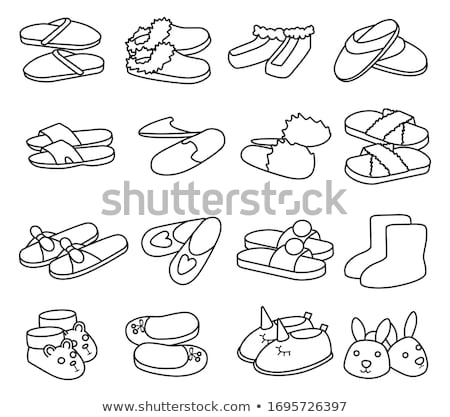 Spa slippers icon groene grijs strand Stockfoto © angelp