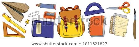 kleurrijk · school · naadloos · krijt · boord - stockfoto © balabolka
