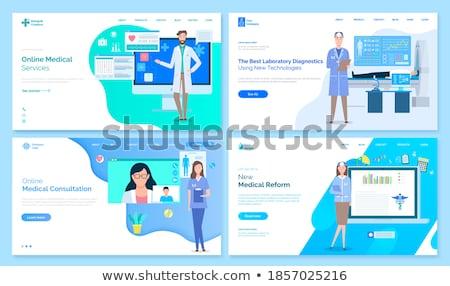 medische · diensten · sjabloon · ingesteld · isometrische · landing - stockfoto © robuart