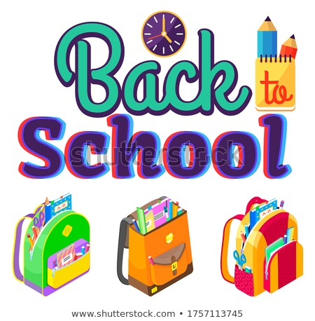 Caption Back to School, Schoolbags and Stationery Stock photo © robuart