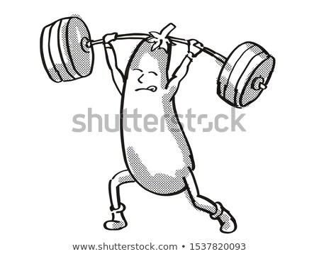 Patlıcan patlıcan sağlıklı sebze halter Stok fotoğraf © patrimonio
