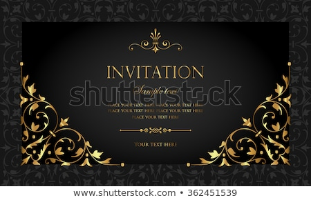 Exclusief sjabloon vector ontwerp vintage Stockfoto © blue-pen