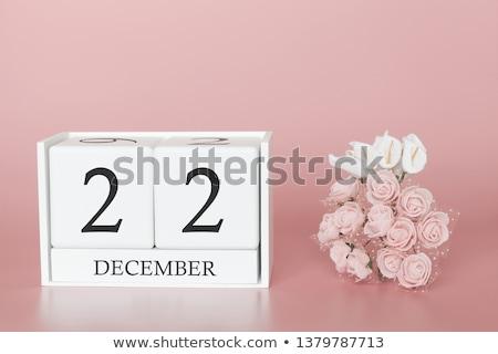 Calendário dezembro vermelho branco ícone Foto stock © Oakozhan