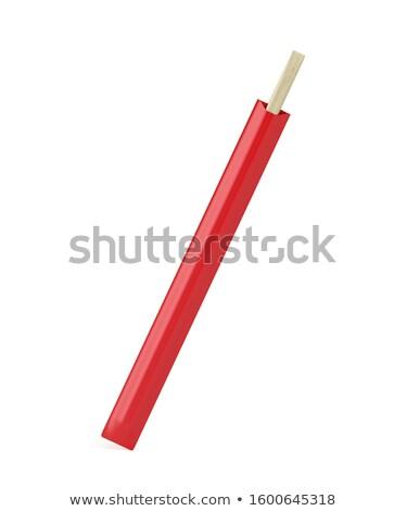 木材 箸 赤 紙 スリーブ 使い捨て ストックフォト © magraphics
