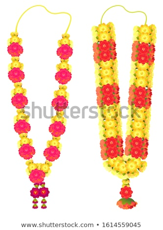 Indian flower garland mala for wedding ceremony. Traditional decoration for couple Stock photo © orensila