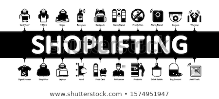 Shoplifting Minimal Infographic Banner Vector Stock photo © pikepicture