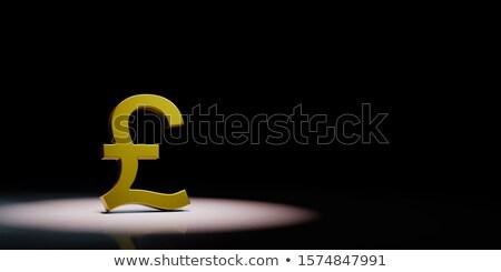 Funt brytyjski waluta podpisania czarny złoty Zdjęcia stock © make