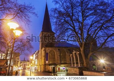 Kerk Duitsland katholiek hemel wolk architectuur Stockfoto © borisb17