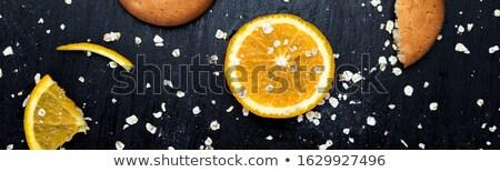 Banner cookie pomarańczowy owoce cytrusowe żywności Zdjęcia stock © Illia