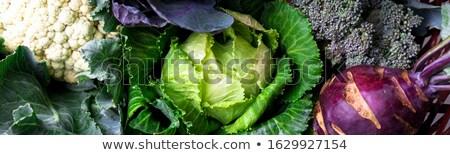 Bandeira repolho brócolis couve-flor cesta Foto stock © Illia