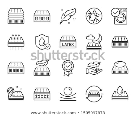 Matras schuim icon schets illustratie vector Stockfoto © pikepicture