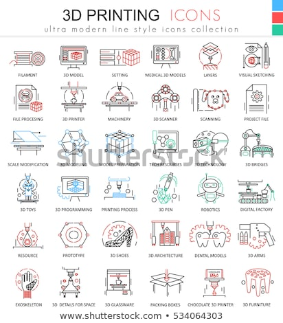 modeling of building materials icon vector outline illustration Stock photo © pikepicture