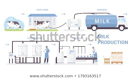 Lácteo producir anunciante leche producto naturales Foto stock © robuart