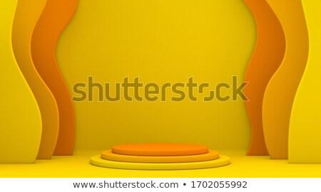 Abstract shape yellow orange mock up winner podium 3D Stock photo © djmilic