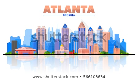 Atlanta Skyline bleu bâtiments voyage d'affaires Photo stock © ShustrikS