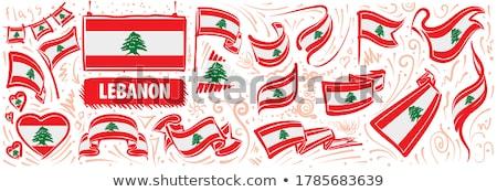 Vecteur pavillon Liban Creative Photo stock © butenkow