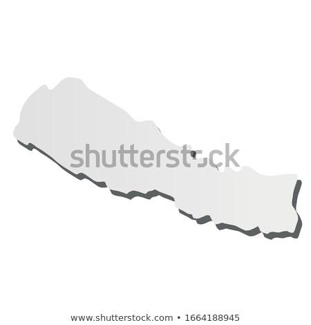 Nepal kraju Pokaż proste czarny sylwetka Zdjęcia stock © evgeny89