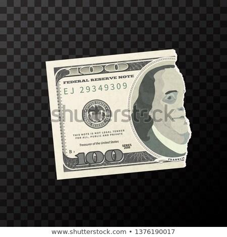 Metade peça falsificação um cem dólares Foto stock © evgeny89