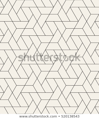 Vector seamless pattern. Modern stylish texture. Repeating abstract background. Monochrome geometric Stock photo © samolevsky